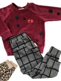 Bordeaux Velours Sweater Cirkel
