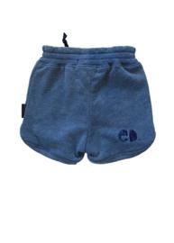 Short Jeansblauw uni
