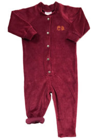 Jumpsuit Bordeaux Velours