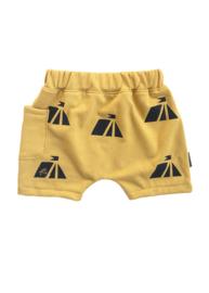 Short geel Tent