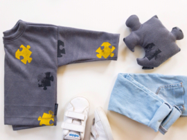 Sweater Puzzel Clr block