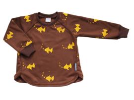 Sweater Bruin Vis print