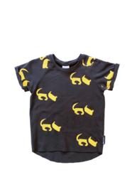 T-shirt Donker Grijs Hond allover
