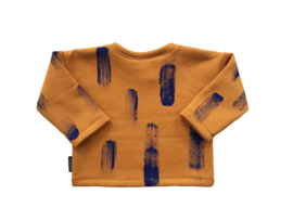 Sweater Oker Verfstreep