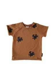 T-shirt Bruin Puzzel