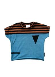 T-shirt Blauw Streep