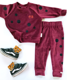Jogger/Legging Velours Bordeaux