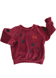 Bordeaux Velours Sweater Cirkel