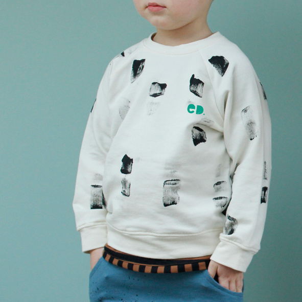 Sweater Off-white Verfstreep