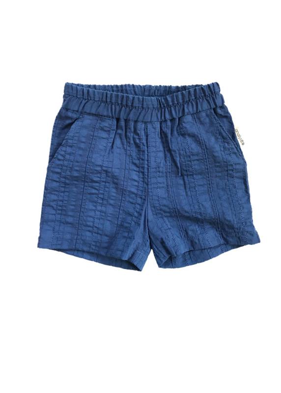 Short Katoen Blauw Dessin