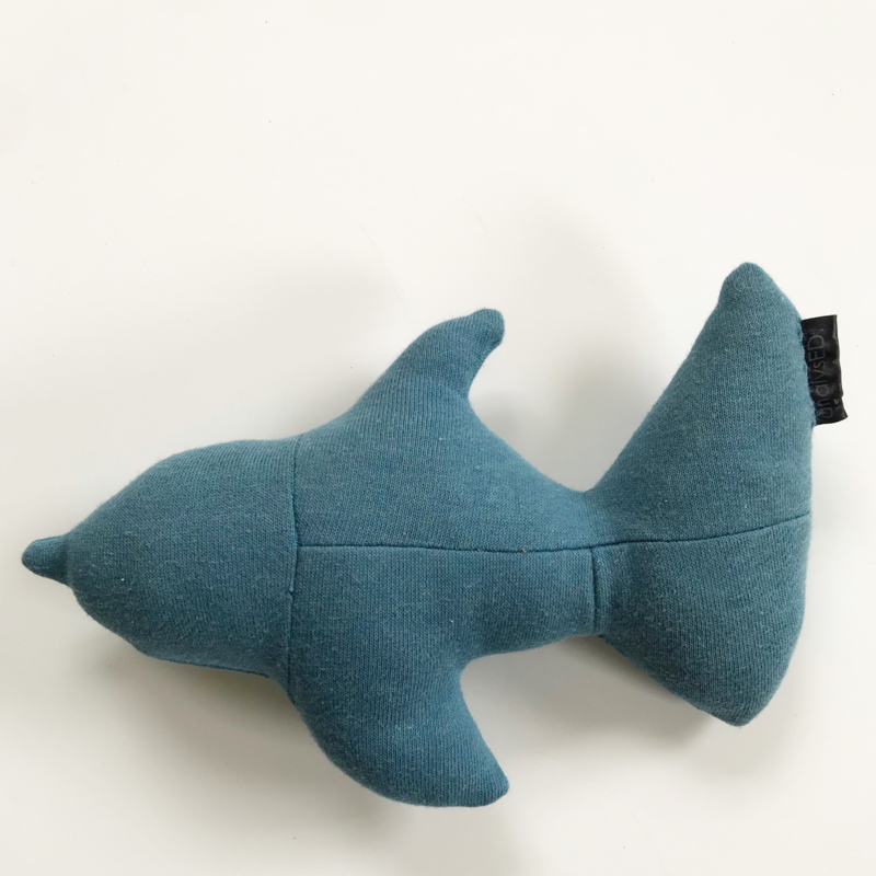 Knuffel Vis blue