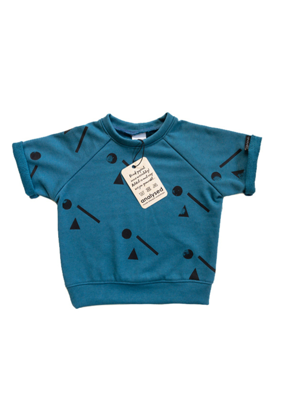 Sweater Shortsleeve Blauw