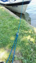 De gepolijste Rope-Mate RM6:  voor de lijn met een dikte van 6 mm.