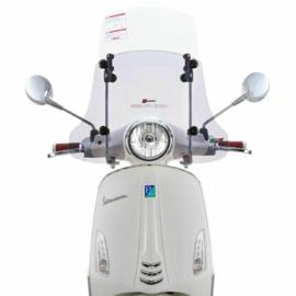 Flyscreen Faco 'Twin Screen' voor Vespa Primavera 50-150 ccm - helder - verstelbaar!