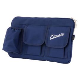 Tas voor bagagevak vóór - blauw nylon