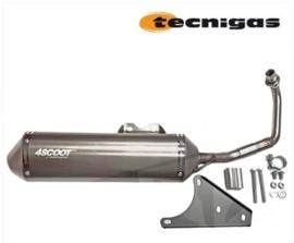 Uitlaat Tecnigas 4SCOOT | Piaggio / Vespa 4T 2V