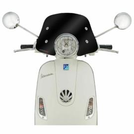 Flyscreen Ermax Piccolo voor Vespa LX 50-150 ccm - zwart getint