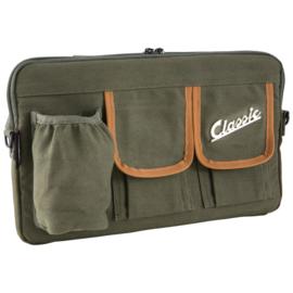 Tas voor bagagevak vóór - groen nylon