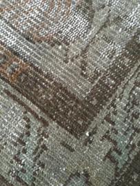 Vintage recoloured tapijt ombergrijs Maat: 166 x 276