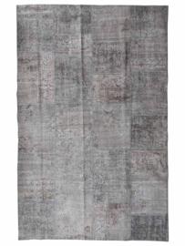 Vintage patchwork tapijt grijs Maat: 187 x 292