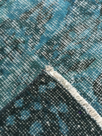 Vintage Turquoise recoloured tapijt Maat: 169 x 285