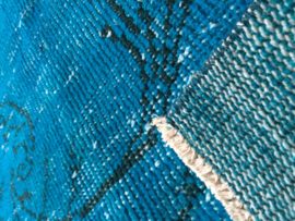 Vintage Turquoise recoloured tapijt Maat: 189 x 290