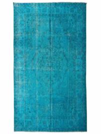 Vintage Turquoise recoloured tapijt Maat: 172 x 303