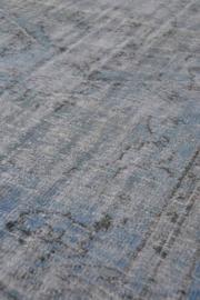 Vintage recoloured tapijt blauw Maat: 143 x 233