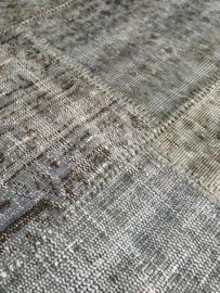 Vintage patchwork tapijt grijs Maat: 197 x 307