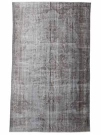 Vintage recoloured tapijt olijfgrijs Maat: 172 x 300