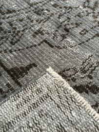 Vintage recoloured tapijt bazaltgrijs Maat: 164 x 263