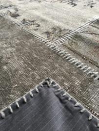 Patchwork tapijt grijs Maat: 170 x 240