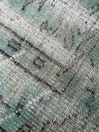 Vintage recoloured tapijt opaalgroen Maat: 157 x 249