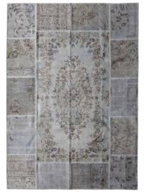 Vintage Patchwork tapijt beige Maat: 170 x 240