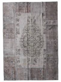 Vintage Patchwork tapijt grijs Maat: 170 x 240