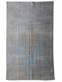 Vintage recoloured tapijt lichtblauw Maat: 160 x 271