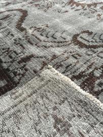 Vintage recoloured tapijt betongrijs Maat:187 x 305