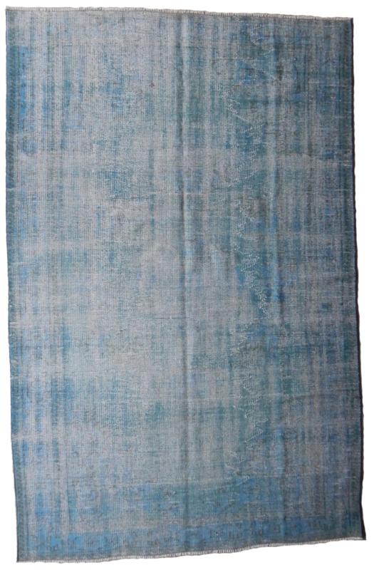 Vintage recoloured tapijt blauw Maat: 177X268