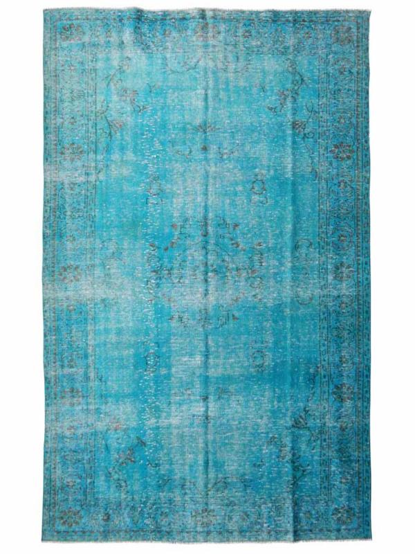 Vintage Turquoise recoloured Tapijt Maat: 190 x 300