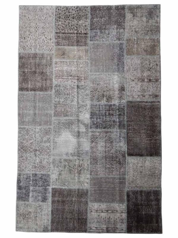 Vintage patchwork tapijt donkergrijs Maat: 180 x 285