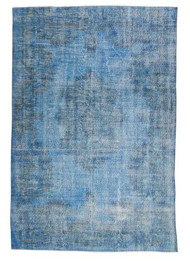 Vintage recoloured tapijt blauw Maat: 212 x 314