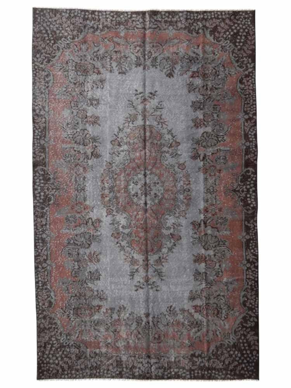 Vintage recoloured tapijt grijs/ bruin Maat: 167 x 271