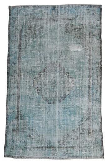 Vintage recoloured tapijt  grijsgroen Maat: 176 x 277