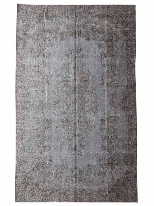 Vintage recoloured tapijt blauwgrijs Maat: 183 x 288