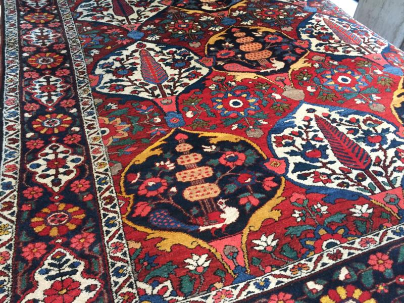 Perzisch: Antieke Bachtiari Chalshotor Tapijt Maat: +/- 200X300