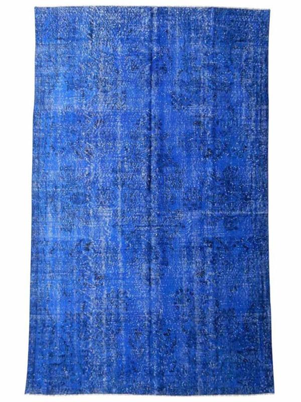 Vintage recoloured tapijt koningsblauw Maat: 178 x 290