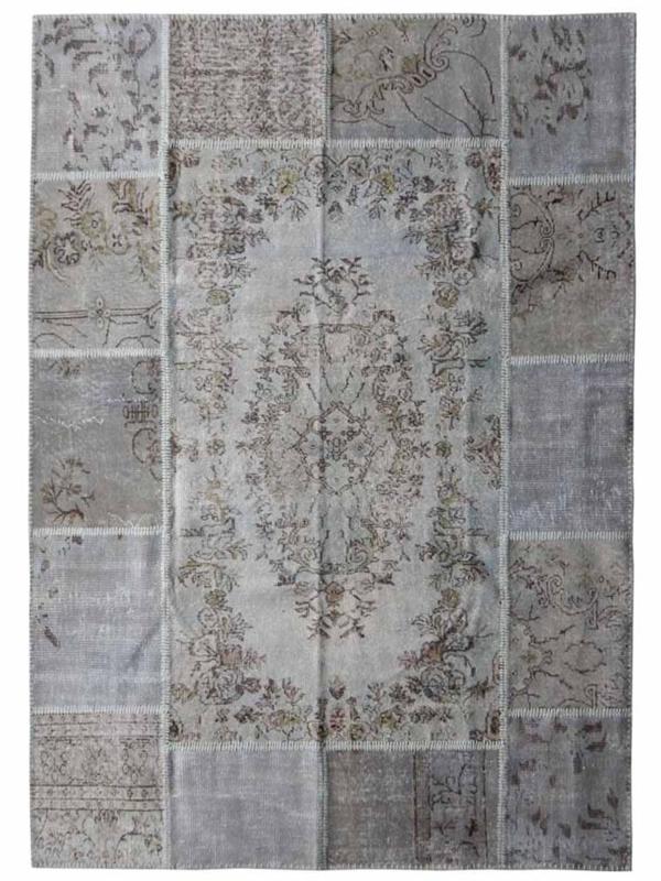 Patchwork tapijt beige Maat: 170 x 240