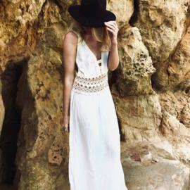 Goddess maxi dress white