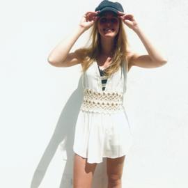 Goddess mini dress white