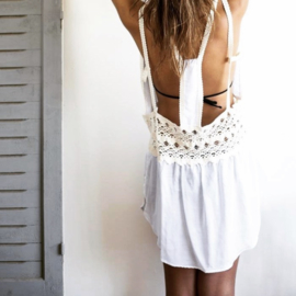 Goddess mini dress white
